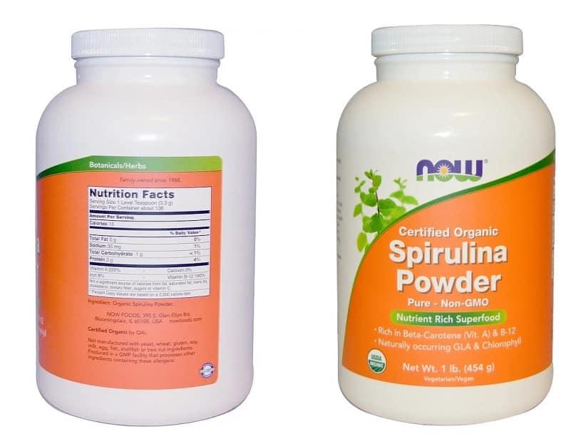אבקת ספירולינה של NOW Foods