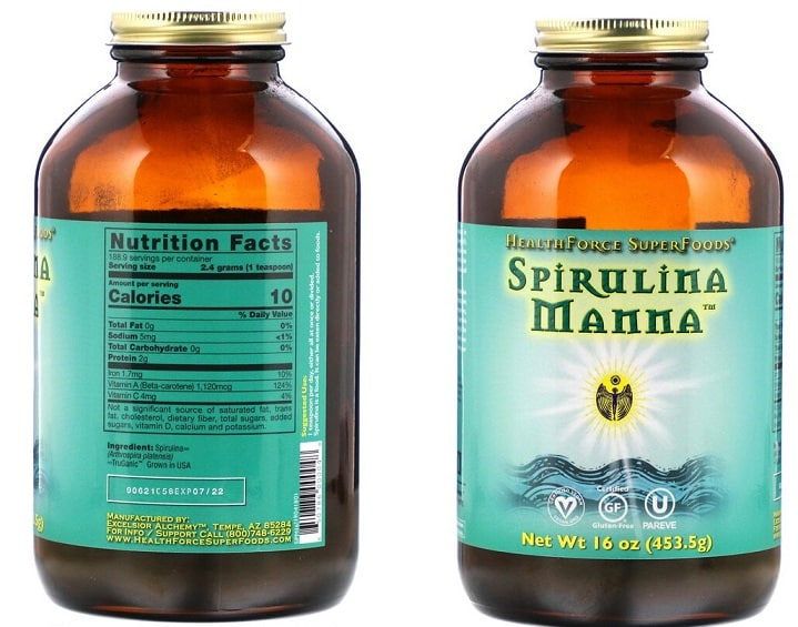 ספירולינה MANNA של חברת HealthForce