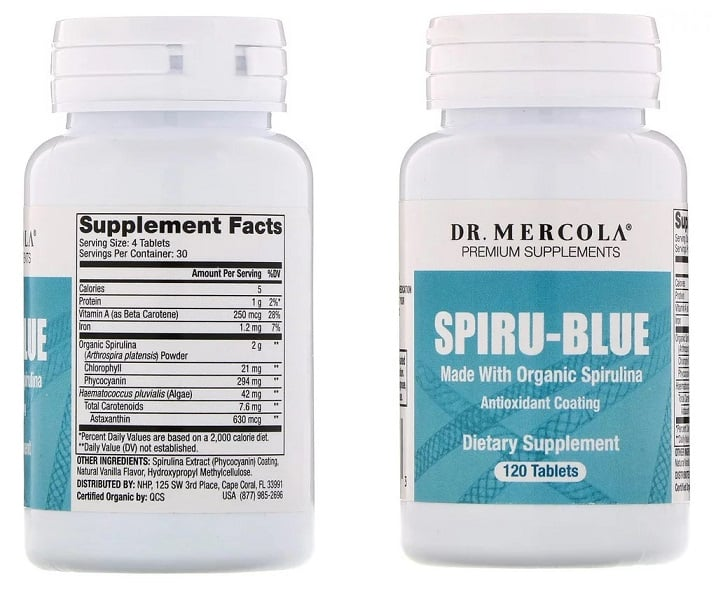 ספירולינה Spiru-Blue של Dr. Mercola