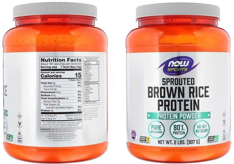 אבקת חלבון אורז חום של חברת NOW Sports