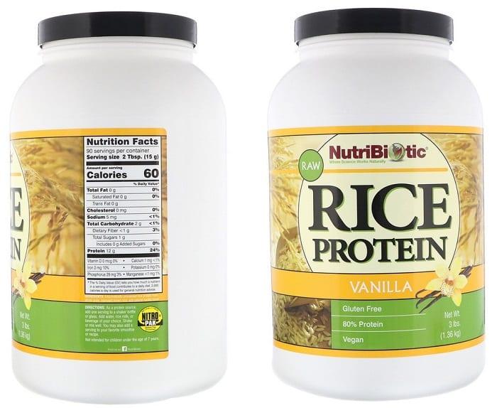 אבקת חלבון אורז של חברת Netribiotic