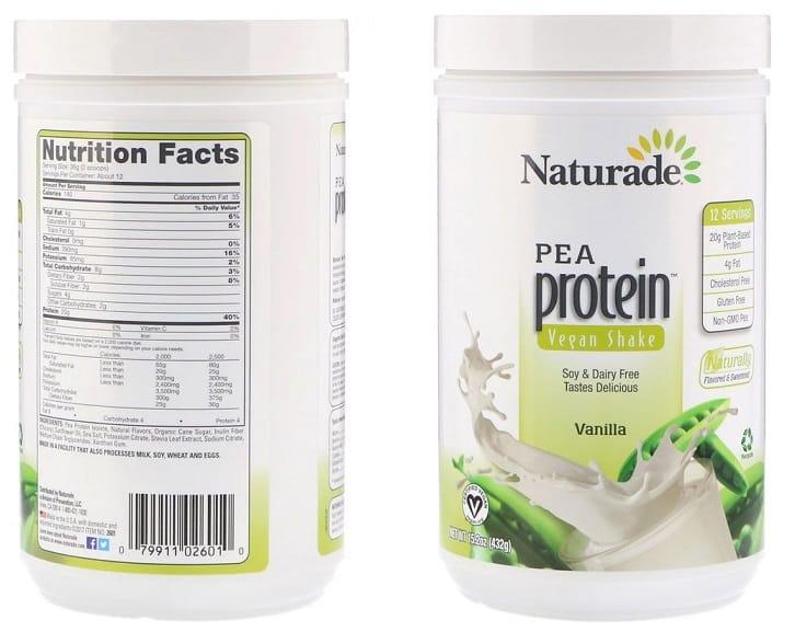 אבקת חלבון אפונה של חברת Naturade