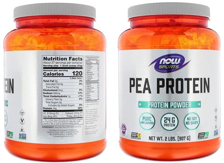אבקת חלבון אפונה של מותג NOW Foods