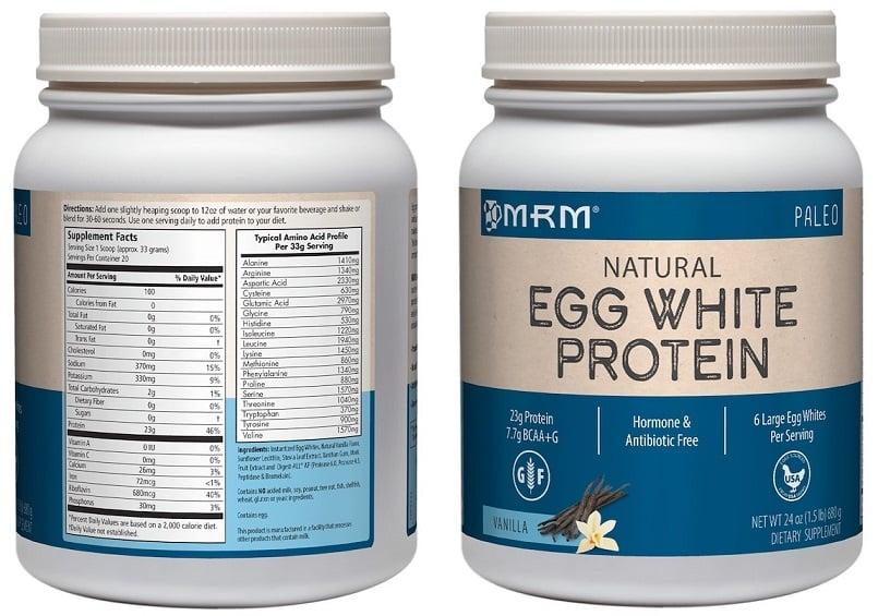 אבקת חלבון ביצה טבעית של חברת MRM