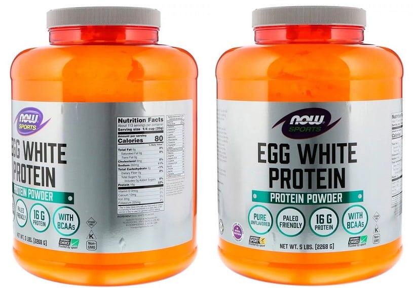 אבקת חלבון ביצה של חברת NOW Foods