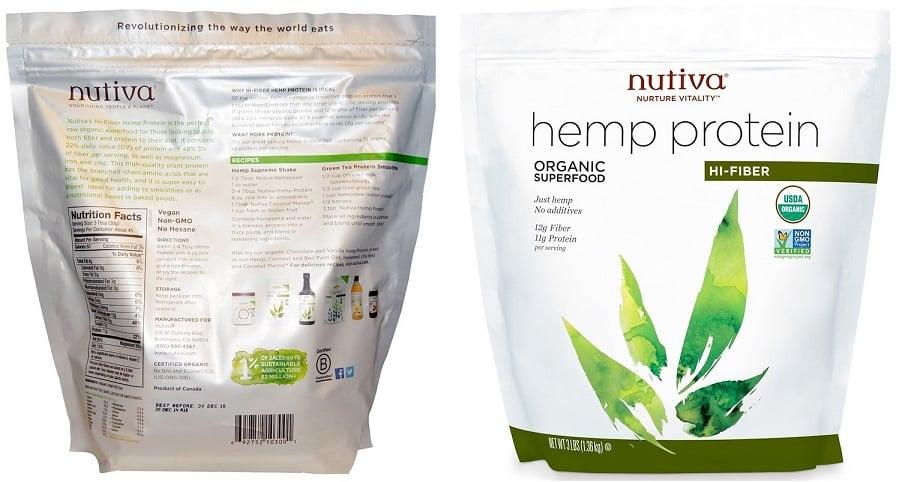 אבקת חלבון המפ אורגנית של חברת Nutiva