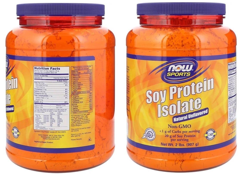 אבקת חלבון סויה של NOW Foods