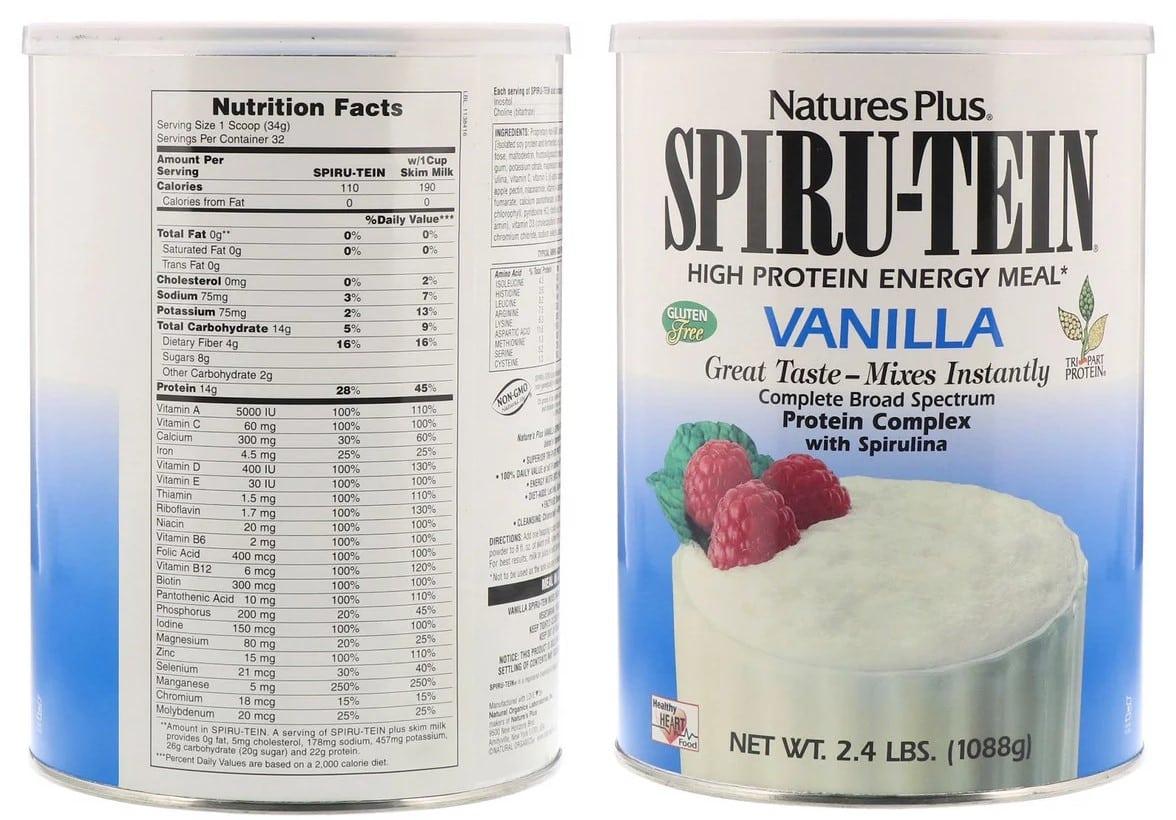 אבקת חלבון של חברת Nature's Plus