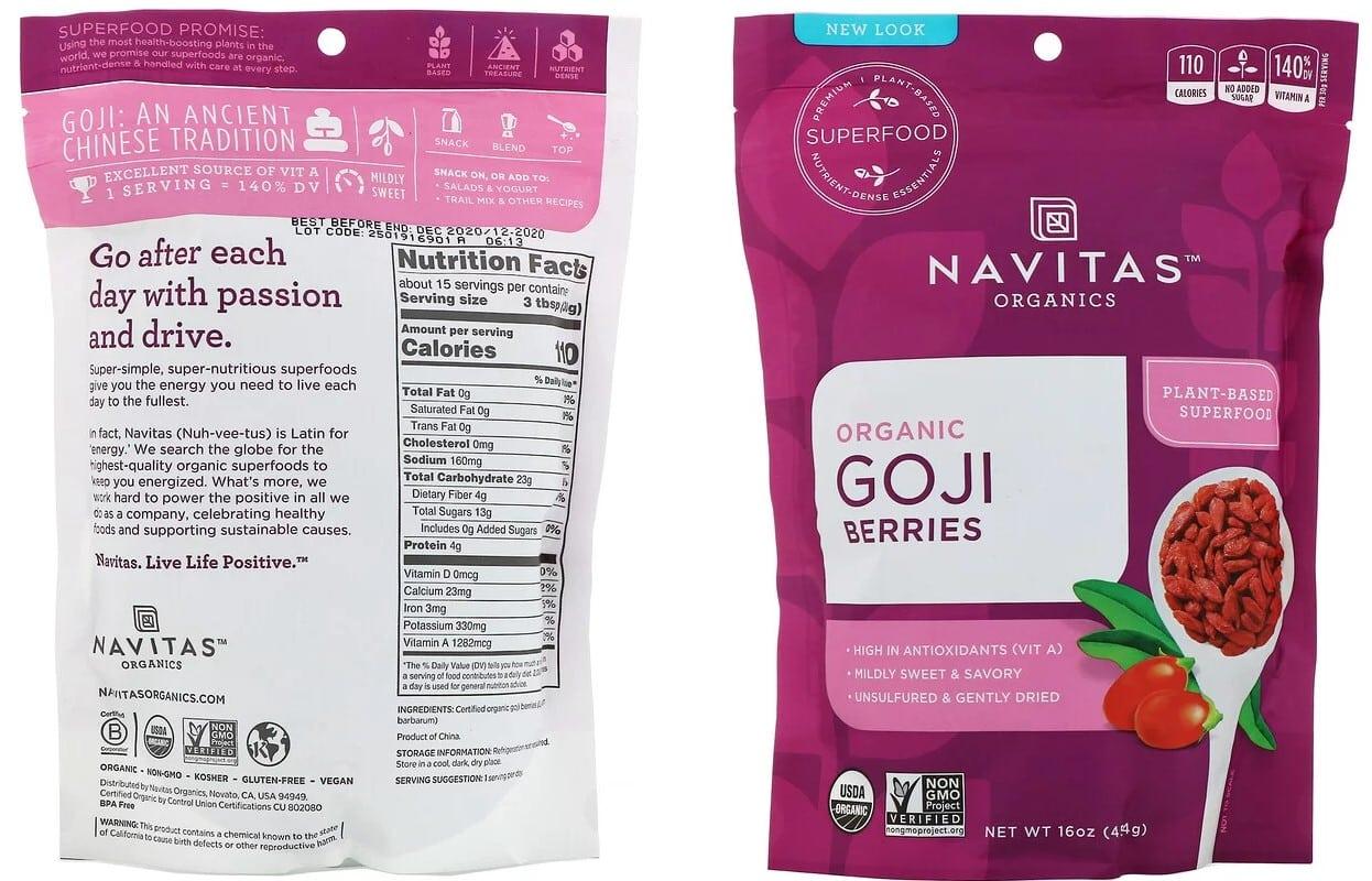 גוג'י ברי של Navitas Organics