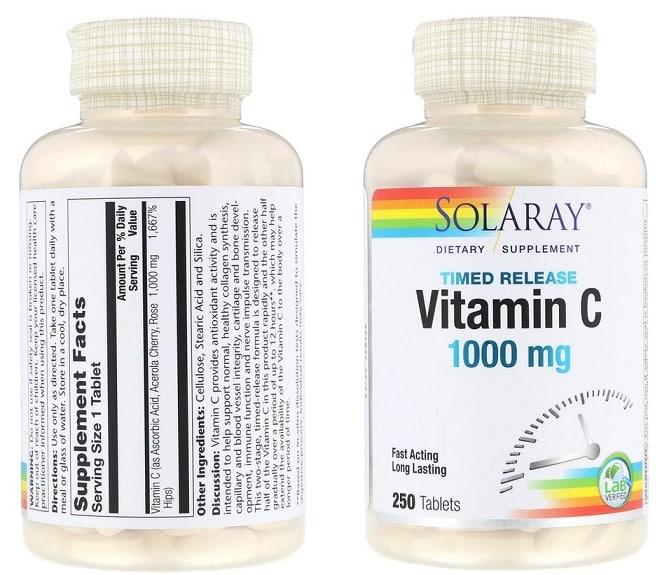 ויטמין C של חברת Solaray