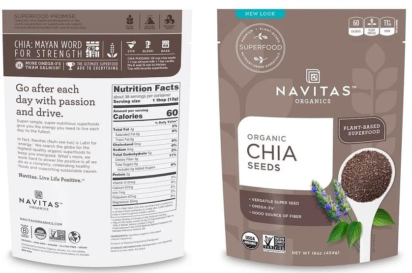 זרעי צ'יה כשר של Navitas