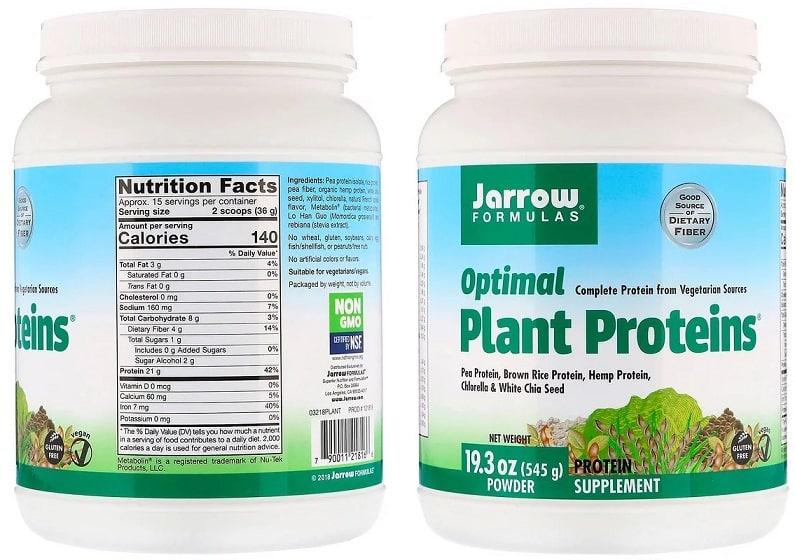 חלבון טבעוני של חברת Jarrow Formulas