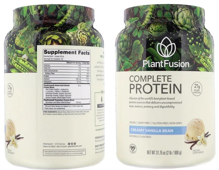 חלבון מאה אחוז טבעוני של חברת PlantFusion