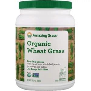 עשב חיטה אורגני של מותג Amazing Grass