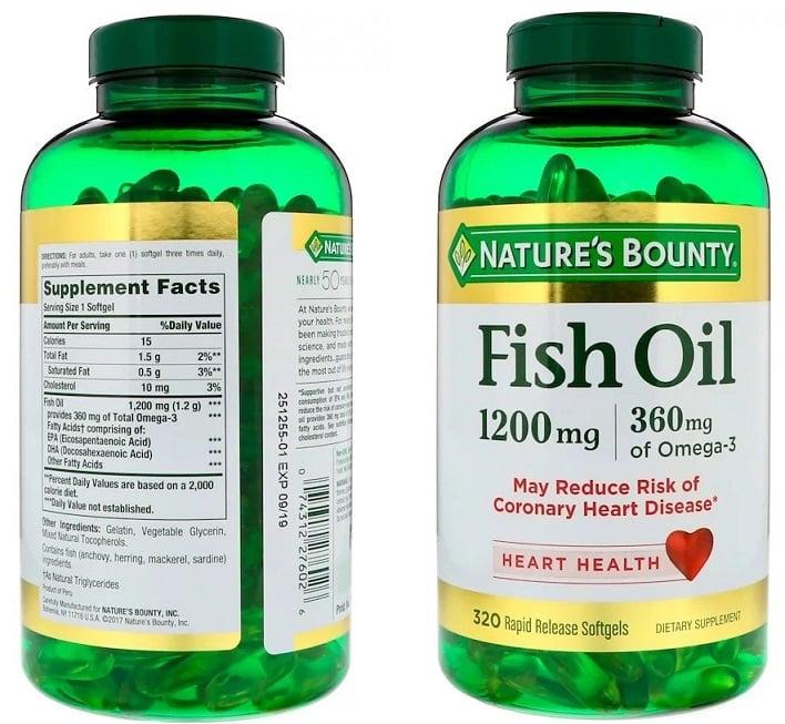 שמן דגים אומגה 3 של חברת Nature's Bounty