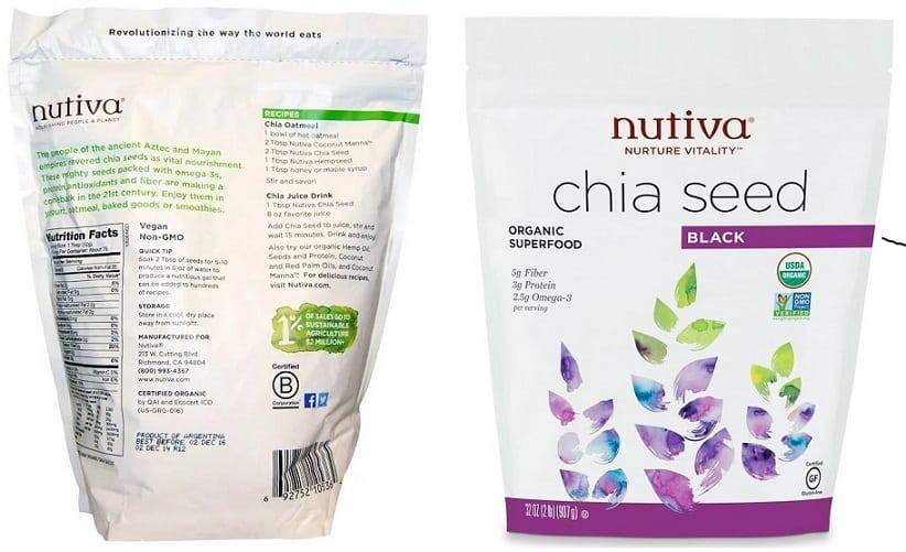 תוסף זרעי צ'יה של חברת Nutiva Organic