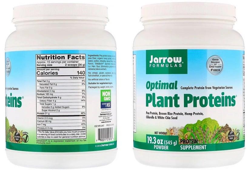 תשלובת חלבונים עם חלבון אפונה של חברת Jarrow Formulas