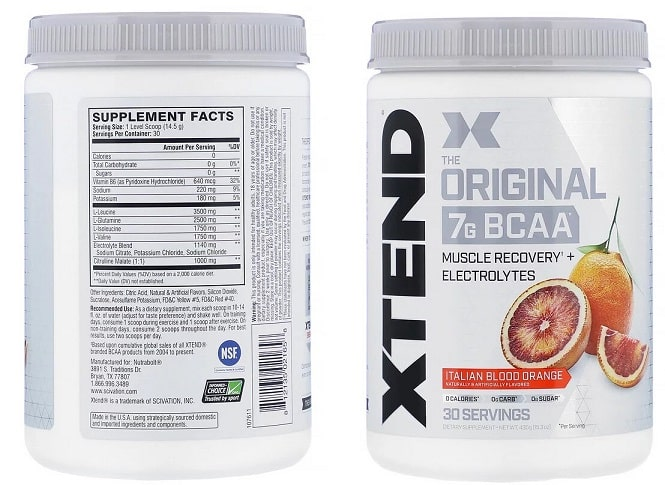 BCAA של חברת Scivation Xtend