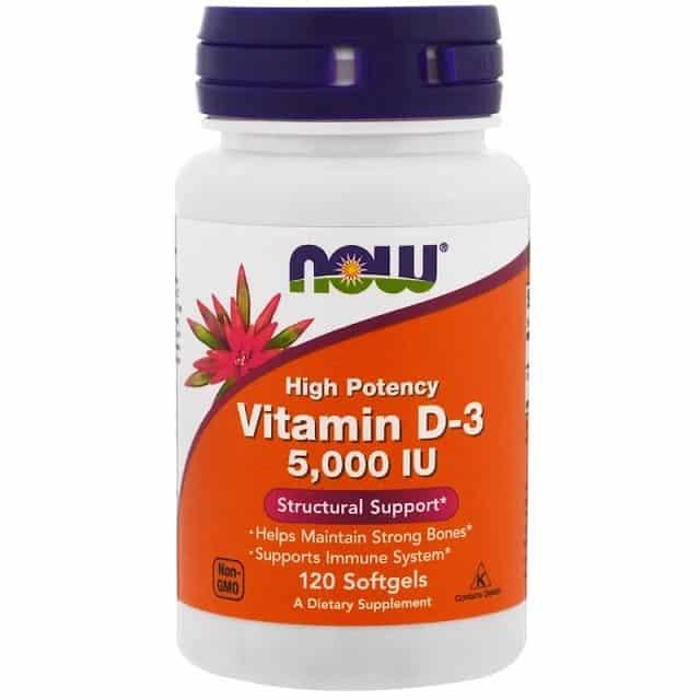 ויטמין D של מותג NOW Foods