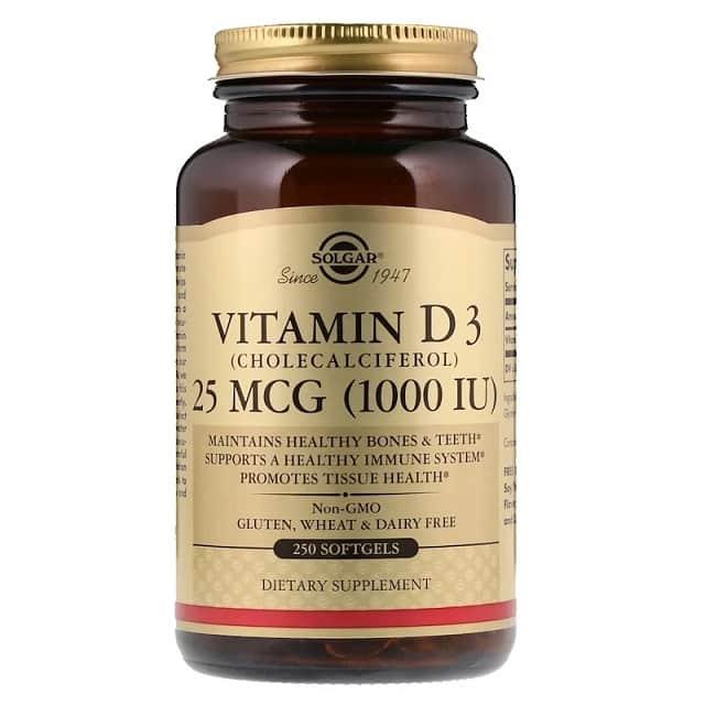 ויטמין D3 של מותג Solgar