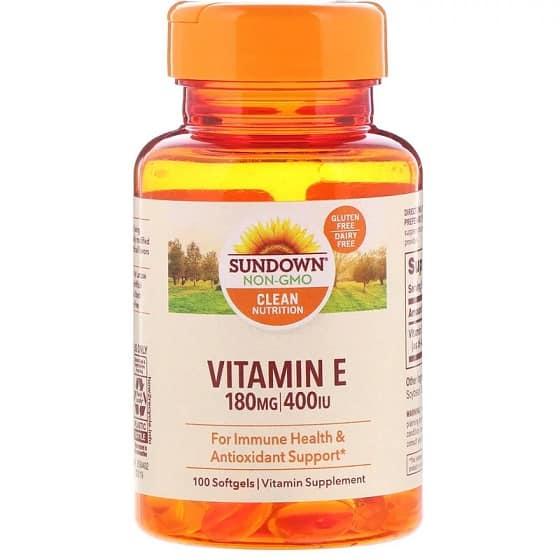 ויטמין E של חברת Sundown Naturals