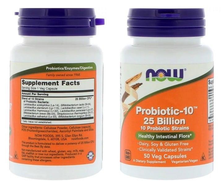 פרוביוטיקה 10 של NOW Foods