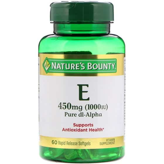 קומפלקס וויטמין E טבעי של מותג Nature's Bounty