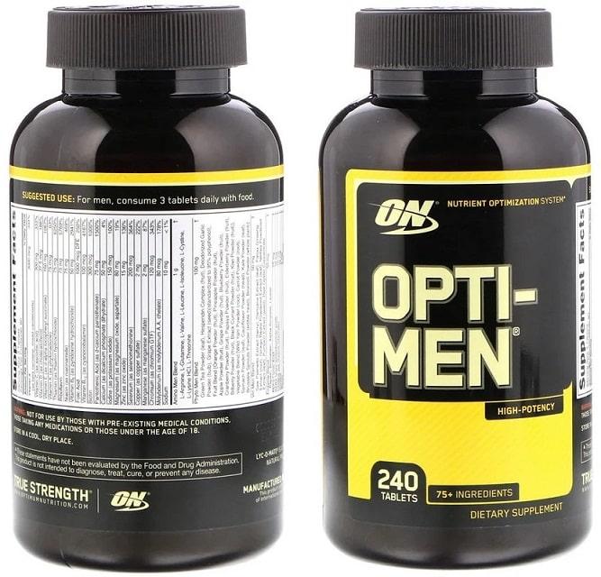 מולטי ויטמין לגבר Opti-Men של מותג Optimum Nutrition