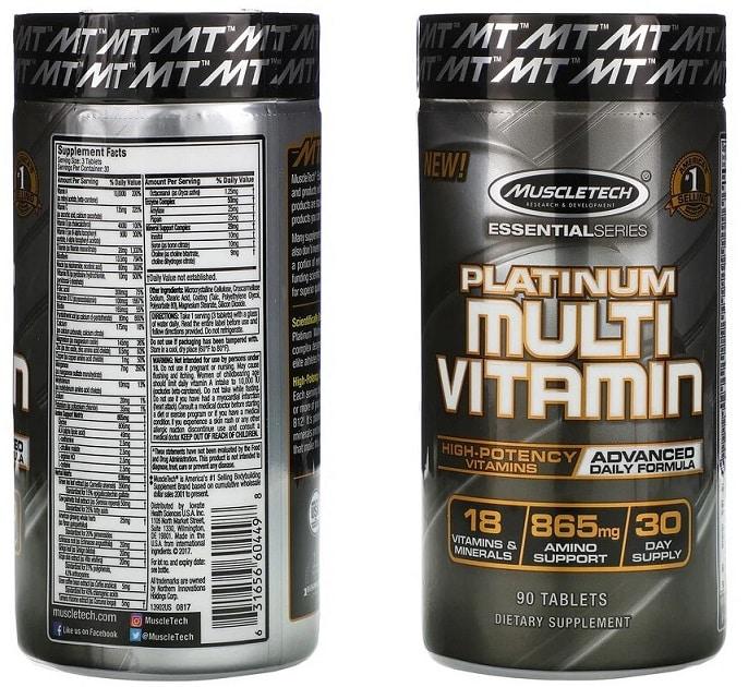 מולטי ויטמין פלטינום של MuscleTech