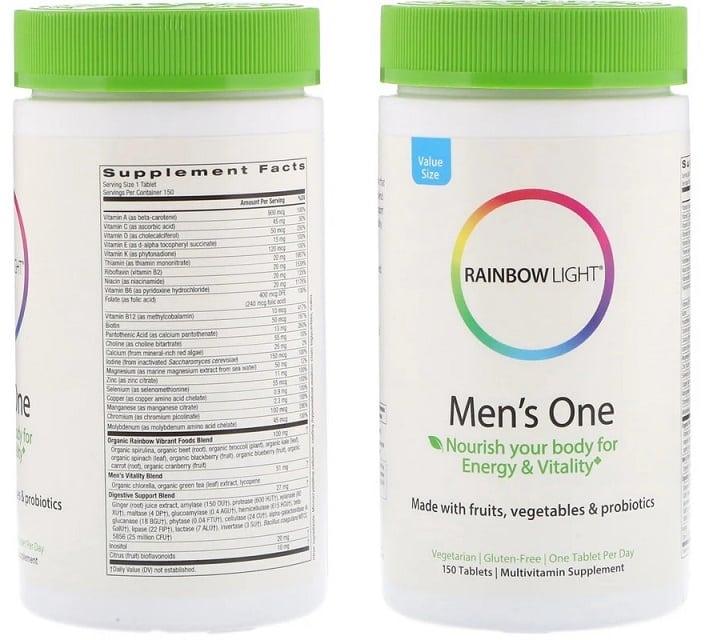 תוסף Men's One של חברת Rainbow Light