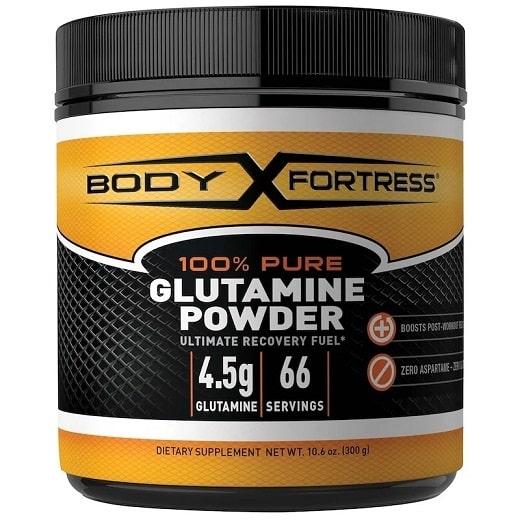 אבקת גלוטמין טהור של חברת Body Fortress