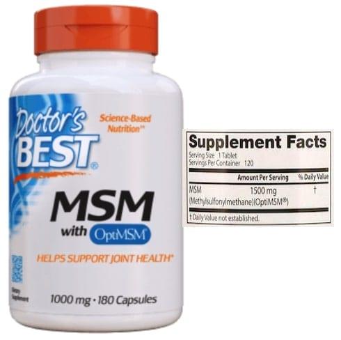 MSM של חברת Doctor's Best