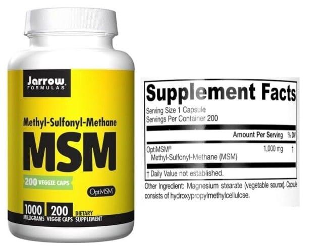 MSM של חברת Jarrow Formulas