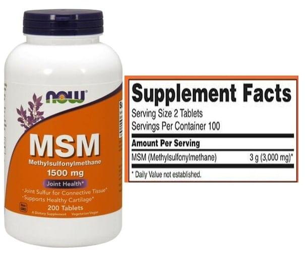 MSM של חברת Now Foods